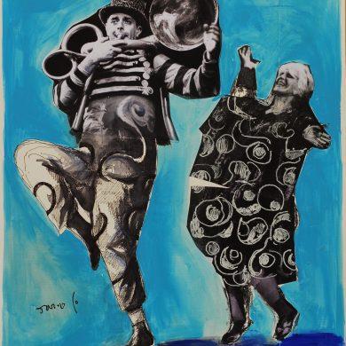 Dario e Franca in la signora è da buttare - Dario Fo 2015 © Archivio Storico Rame Fo C.T.F.R. srl