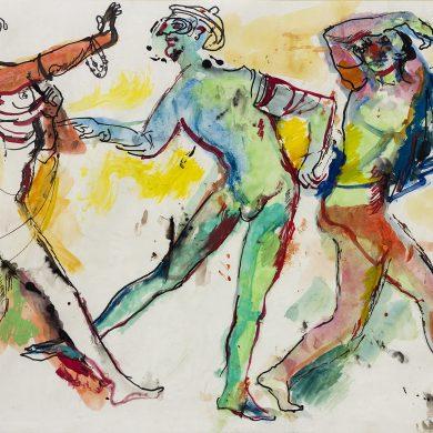 Gli Zanni e la Puta - Dario Fo 1985 - © Archivio Storico Rame Fo - C.T.F.R. srl